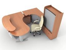 Mobília de escritório Imagem de Stock Royalty Free
