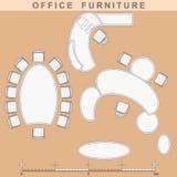 Mobília de escritório ilustração royalty free