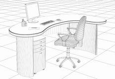 Mobília de escritório da estrutura Fotos de Stock Royalty Free