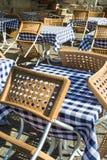 Mobília de um café fora Fotografia de Stock