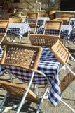 Mobília de um café fora Foto de Stock Royalty Free