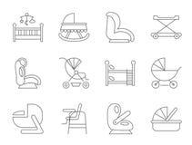 Mobília do bebê Imagem de Stock Royalty Free