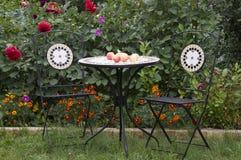 Mobília do jardim Foto de Stock