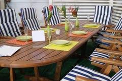 A mobília do jardim Foto de Stock Royalty Free