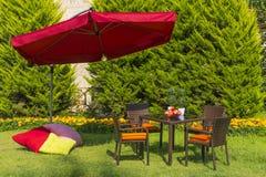 Mobília do jardim Imagens de Stock Royalty Free