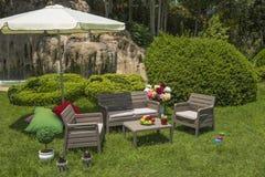 Mobília do jardim Fotografia de Stock