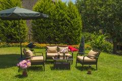 Mobília do jardim fotografia de stock royalty free