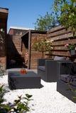 Mobília do jardim do projeto Foto de Stock