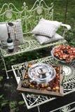Mobília do metal do jardim Imagens de Stock Royalty Free