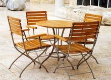Mobília do pátio Imagem de Stock Royalty Free