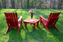Mobília do quintal imagens de stock royalty free