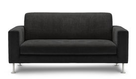 Mobília do sofá isolada no fundo branco Fotografia de Stock Royalty Free