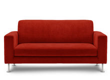 Mobília do sofá isolada no fundo branco Foto de Stock Royalty Free