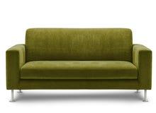 Mobília do sofá no fundo branco Imagem de Stock