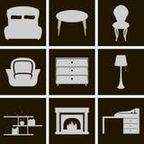 Mobília dos ícones Imagem de Stock