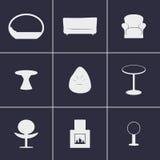 Mobília dos ícones Imagens de Stock Royalty Free