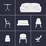 Mobília dos ícones Foto de Stock Royalty Free