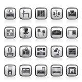 Mobília e ícones home do equipamento Imagens de Stock