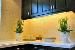 Mobília e decoração da cozinha Fotografia de Stock Royalty Free