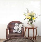 Mobília exterior como o ajuste interior Imagem de Stock