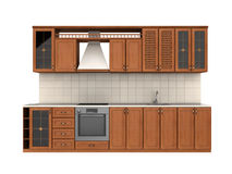Mobília integral da cozinha Foto de Stock Royalty Free