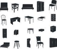 Mobília isolada em um fundo branco Fotografia de Stock