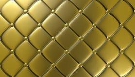 Mobília luxuosa do couro do ouro, papel de parede, ilustração Imagem de Stock