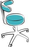 Mobília médica Cadeira ilustração stock