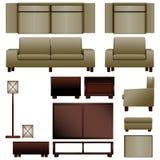 Mobília moderna da sala de visitas Fotos de Stock Royalty Free