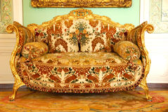Mobília velha no palácio de Versalhes Imagem de Stock
