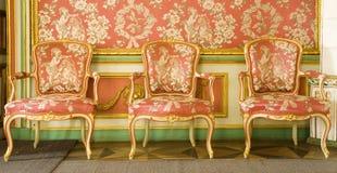 Mobília vermelha do victorian Fotos de Stock Royalty Free