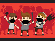 Mob cartoon design. Vector :mob cartoon design on red background Stock Photography