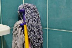 Mob overlap on bathroom wall Stock Image