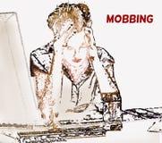 mobba royaltyfri illustrationer