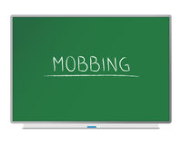 Mobbing. Blackboard with the text mobbing Royalty Free Stock Photography
