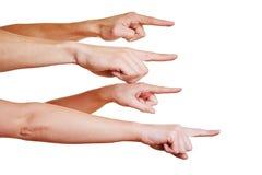 Mobbing con le dita di squittio Fotografie Stock