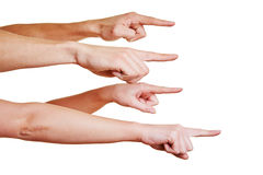 Mobbing mit den squealing Fingern Stockfotos