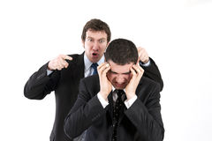 Mobbing in office Stock Image