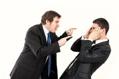 Mobbing in office Stock Images