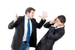 Mobbing in office Royalty Free Stock Photography