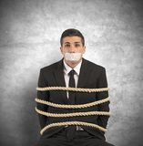 Mobbing and stress at work. Concept of businessman with mobbing and stress at work Royalty Free Stock Image
