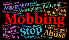 Mobbing word cloud concept Stock Image
