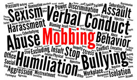 Mobbing word cloud concept Royalty Free Stock Photography