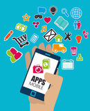 Mobiel app ontwerp stock illustratie