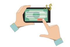 Mobiel Bankwezen Stock Afbeeldingen