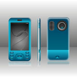 Mobiel Blauw Royalty-vrije Stock Foto's