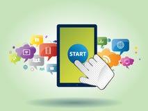 Mobiel communicatiemiddel door de slimme telefoon Royalty-vrije Stock Fotografie