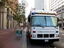 Mobiel het Bevelvoertuig van SFPD op Marktstraat Royalty-vrije Stock Fotografie