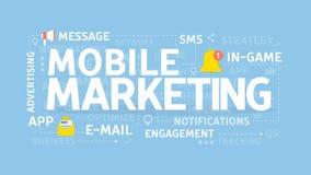 Mobiel marketing concept royalty-vrije illustratie