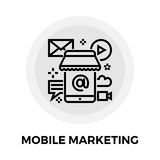 Mobiel Marketing Lijnpictogram stock illustratie